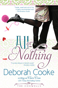 All or Nothing, book #4 of the Coxwell series of contemporary romances by Deborah Cooke (writing as Claire Cross)