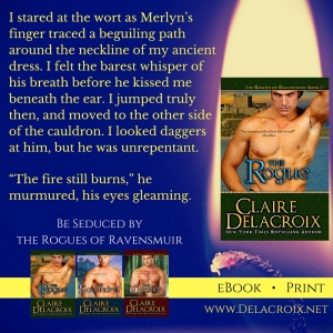 The Rogue, book #1 of the Rogues of Ravensmuir trilogy of medieval Scottish romances by Claire Delacroix