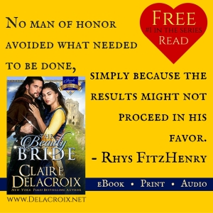 The Beauty Bride, book #1 in the Jewels of Kinfairlie trilogy of medieval Scottish romances by Claire Delacroix and a free read