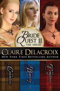 The Bride Quest II Boxed Set, a trilogy of medieval romances by Claire Delacroix