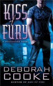 Kiss of Fury, #2 in the Dragonfire series of paranormal romances by Deborah Cooke