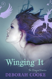 Winging It, second of the paranormal YA trilogy The Dragon Diaries by Deborah Cooke, UK edition
