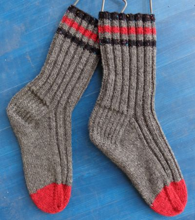 Socks in Briggs and Little Tuff knit by Deborah Cooke