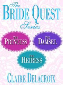 The Bride Quest trilogy of medieval romances, digital boxed set, by Claire Delacroix