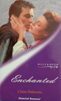 Enchanted, book #2 of the Sayerne series of medieval romances and a shapeshifter romance by Claire Delacroix, UK edition