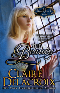 The Beauty, book #2 of the Bride Quest II trilogy of Scottish medieval romances and a NYT bestselling title, by Claire Delacroix