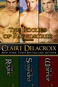The Rogues of Ravensmuir, a digital boxed set including three Scottish medieval romances, by Claire Delacroix