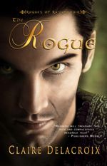 The Rogue, book #1 of the Rogues of Ravensmuir trilogy of Scottish medieval romances by Claire Delacroix, out of print first trade paperback edition