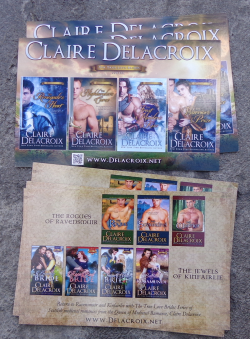 Kinfairlie and Ravensmuir postcard for medieval romances by Claire Delacroix