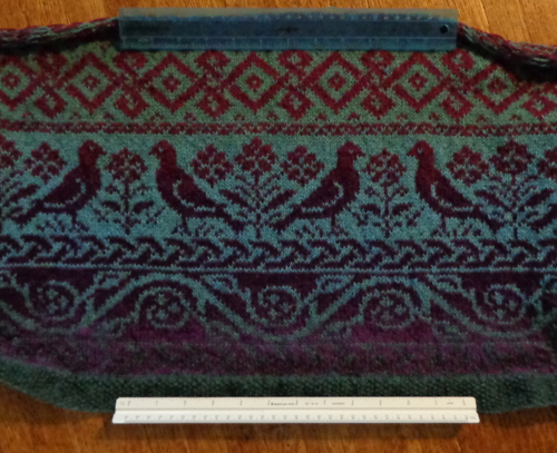 Roan, a design by Martin Storey, knitted in Kauni Effektgarn by Deborah Cooke