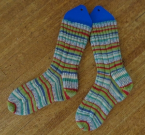 Kroy Socks knitted by Deborah Cooke