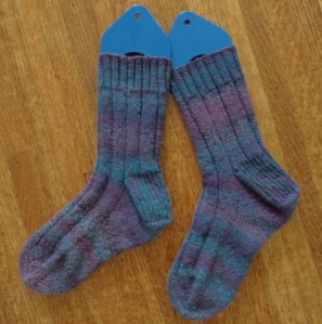 Socks knit in Patons Kroy FX by Deborah Cooke