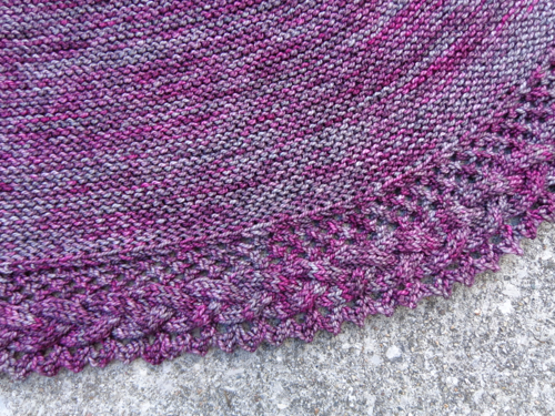 French cancan shawl, detail, knit by Deborah Cooke