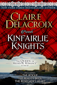 Kinfairlie Knights, a digital bundle of three medieval Scottish romances, all first in a series, by Claire Delacroix