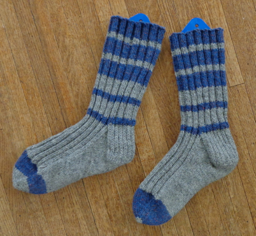 Socks knit by Deborah Cooke