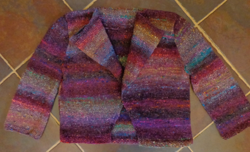 Tithe, designed by Jane Ellison, knit in Noro Cyochin by Deborah Cooke