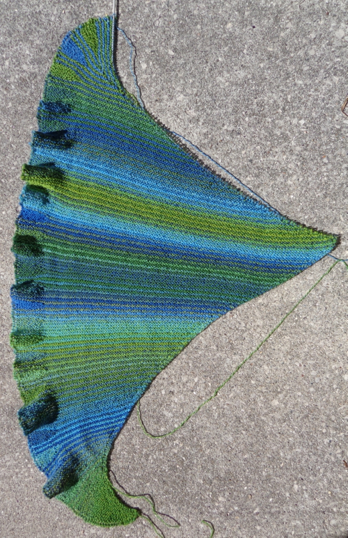 Undine shawl knit by Deborah Cooke