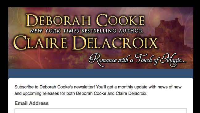 Newsletter sign up for Deborah Cooke