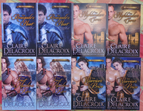 The Ture Love Brides series of medieval romances by Claire Delacroix in print editions