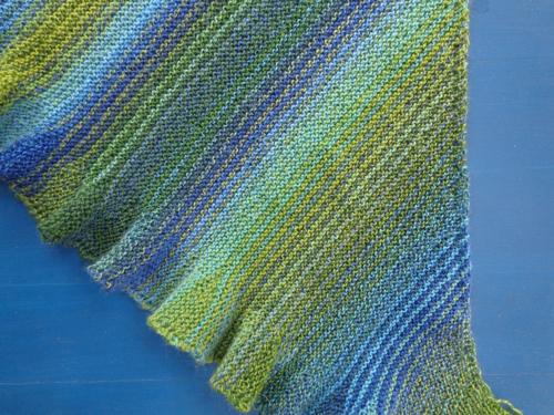 Detail of Mermaid Shawl by Deborah Cooke
