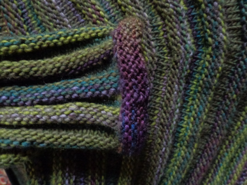 Cuff detail, sweater knit by Deborah Cooke