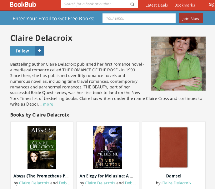 Claire Delacroix's BookBub Author Profile
