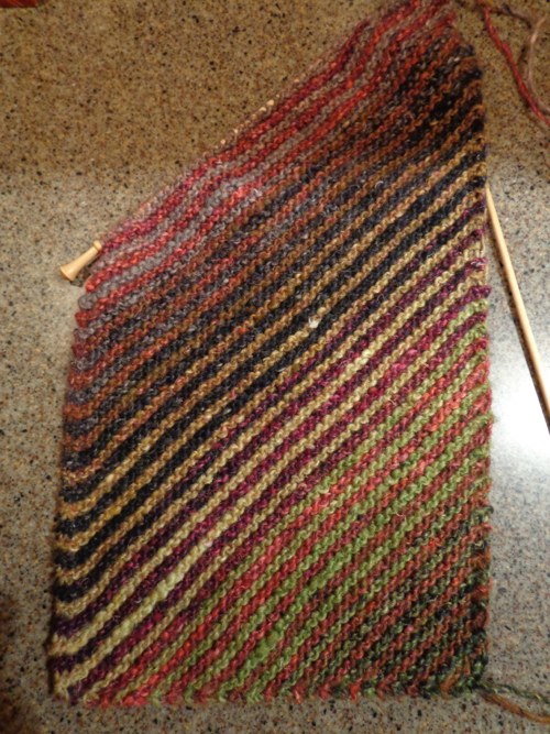 Striped Scarf in Noro Silk Garden, knit by Deborah Cooke