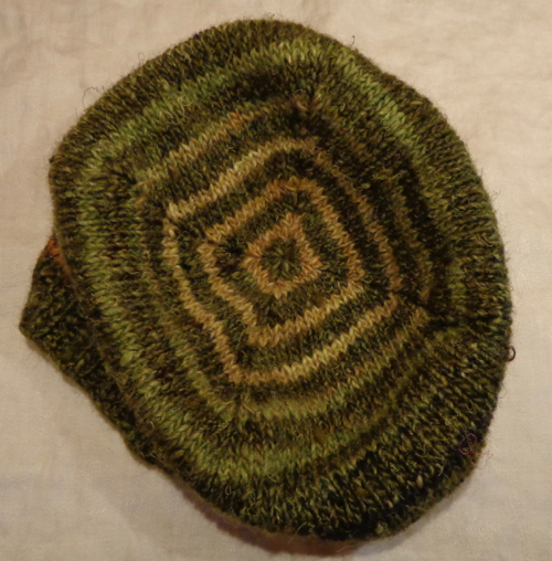 Turn a Square hat knit by Deborah Cooke