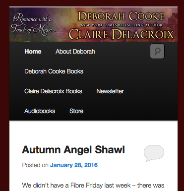Deborah Cooke's website, revised