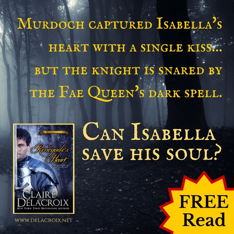 The Renegade's Heart, a medieval Scottish romance with fantasy elements by Claire Delacroix and first in a series, is free!