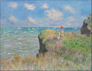 Claude Monet Cliff Walk at Pourville in the Art Institute of Chicago's collection