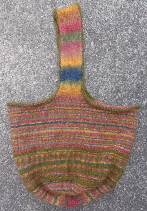 Felted bag in Patons SWS knit by Deborah Cooke