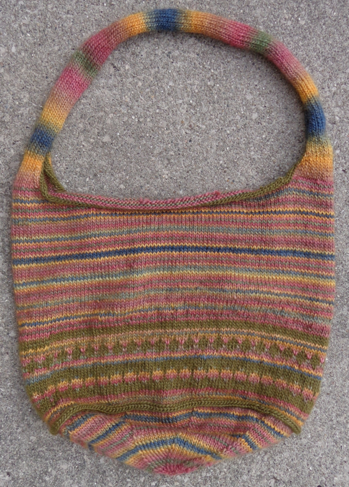 bag in Patons SWS knitted by Deborah Cooke