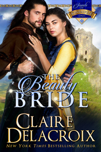 The Beauty Bride, first book in the Jewels of Kinfairlie series of medieval Scottish romances by Claire Delacroix