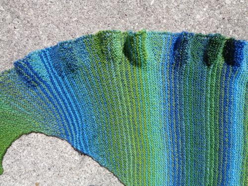 Undine 2 shawl knit by Deborah Cooke