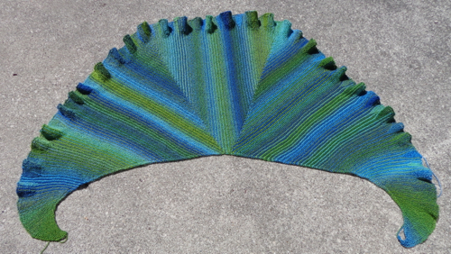 Undine 2 Shawl knit by Deborah Cooke