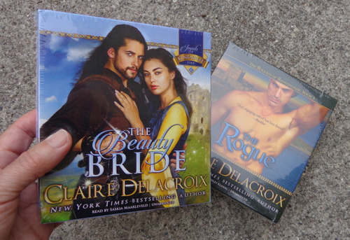Blackstone Audio editions of The Beauty Bride and The Rogue, medieval romances by Claire Delacroix