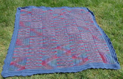 Rowan Martin Storey KAL afghan knitted by Deborah Cooke