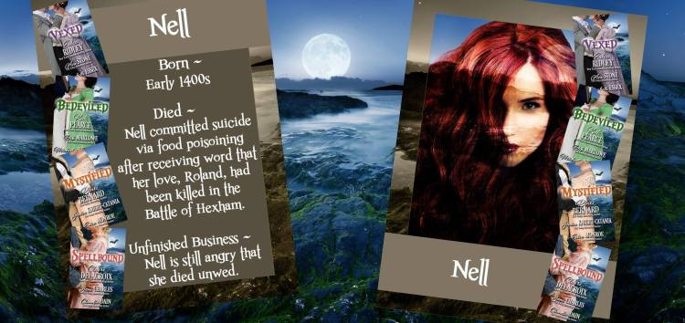 Nell, a ghost with cameo roles in the Regency romance novellas of the Haunting of Castle Keyvnor collection
