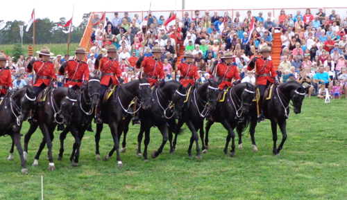 The RCMP Musical Ride, photographed by Deborah Cooke