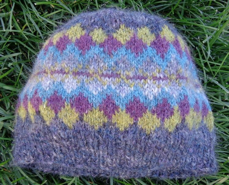 Hat knit in Colourspan and Rowan Felted Tweed by Deborah Cooke