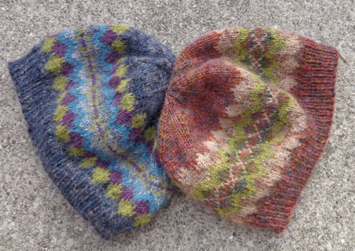 Fair Isle hats knit by Deborah Cooke