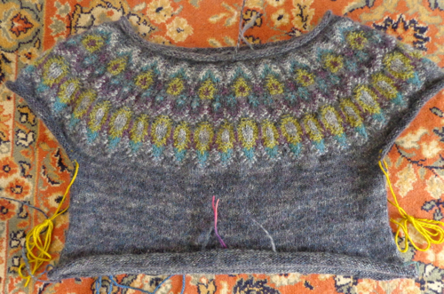 Inspired by Bohus pullover knit by Deborah Cooke in Rowan Colourspun