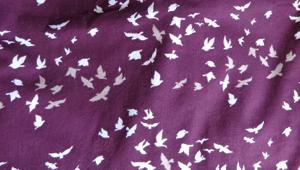 purple cotton voile print