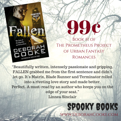 Fallen, first in the Prometheus Project of urban fantasy romances by Deborah Cooke