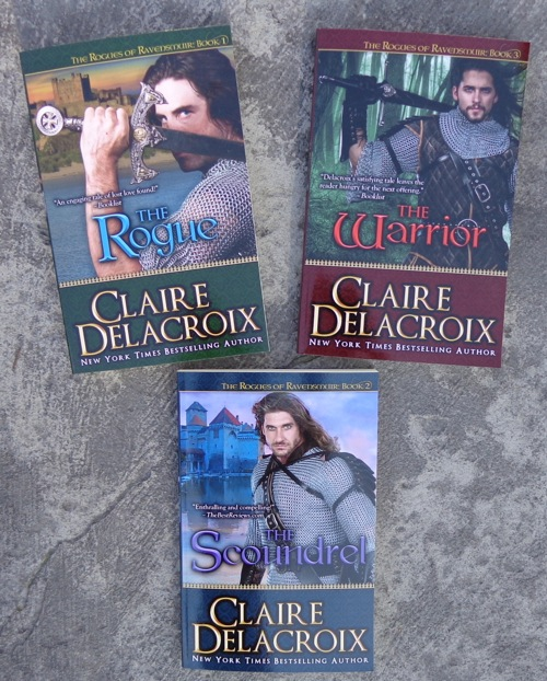 The Rogues of Ravensmuir medieval romances by Claire Delacroix in new trade paperback editions