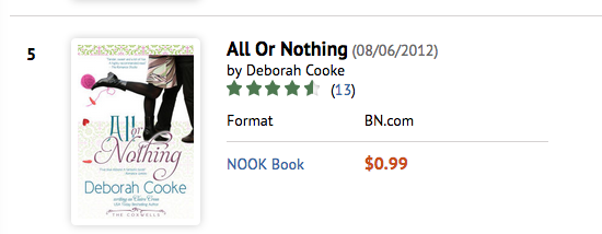 All or Nothing at B&N on October 8 2016