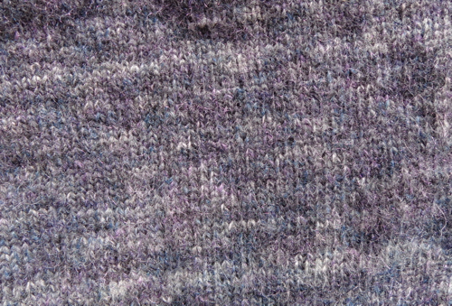 Bohus Inspired pullover detail knit by Deborah Cooke in Rowan Colourspun