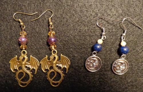 Bead Earrings made by Deborah Cooke