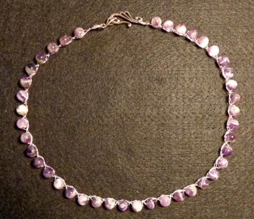 Amethyst necklace made by Deborah Cooke